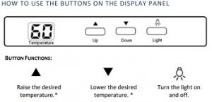 Newair-aw121e-how-to-use-the-control-panel