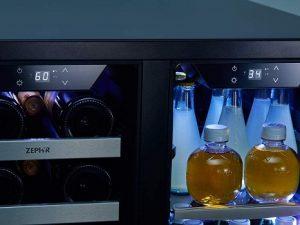 Zephyr-24-inch-wine-and-beverage-cooler-dual-temperature-zones