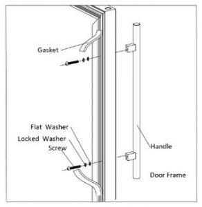 Zephyr-24-inch-wine-and-beverage-cooler-install-door-handles