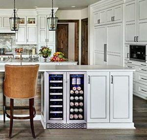 Phiestina-24-Inch-Wine-and-Beverage-Refrigerator-under-cabinet-installation