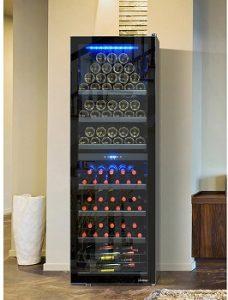 Vinotemp-154-bottle-left-hinge-free-standing-installation